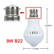 PIR Motion Sensor LED Bulb B22 9W Auto Smart LED Lighting Infrared Body Sensor