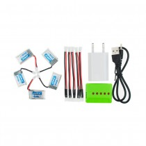 5PC 3.7V 150mAh Battery + 5 in 1 Charger With Power plug For RC Quadcopter