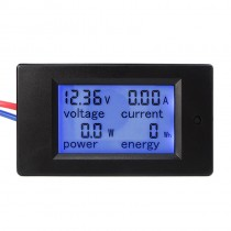 DC 6.5-100V 0-20A LCD Display Digital Current Voltage Power Energy Meter Multimeter Ammeter Voltmeter