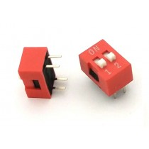 DIP Switch Slide Type 2.54mm Pitch 2 Row DIP Toggle switches 2p