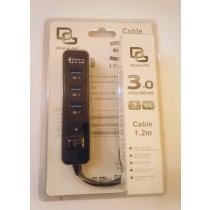 USB Hub Switch 4 Port USB Hub 3.0 with Switch 5 Gbps