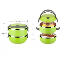 Stainless Steel Round Shape Keep Warm Two Layer Lunch Box
