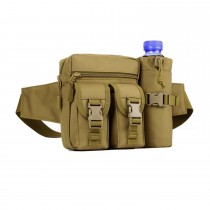 Military Waist Bag and Travel Camping Detachable Water Bottle Holder Waist Pouch Waterproof
