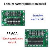 3S 60A Protection Charging Board PCM BMS 18650 Li-ion Lithium Battery Module for Drill Motor