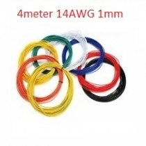 4 Meters UL 1007 Wire 14AWG 1mm PVC Wire Electronic Cable UL Certification Insulated LED Cable For DIY Connect 4 Color