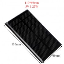 5V 1.25W Solar Panel for Cellular Phone Charger Home Light Toy etc Solar Cell DIY