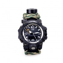 Yuzex Multifuctional 6 in 1 Survival Paracord Bracelet Compass Watch