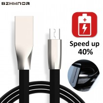 3D Zinc Alloy Fast Charging Micro USB Data Sync Charger USB Cable