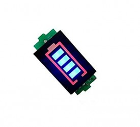 3.7V Battery Capacity Indicator 4 LEDs Display for 1S Battery