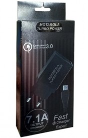 Motarola Turbo Power Charger - Fast Charger 7.1 Amp Output - Black