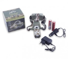 Head lamp Desert Camouflage Multi-Function Chargeable Headlamp Rotary Zoom