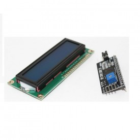IIC/I2C + LCD1602 Blue Backlight LCD Display