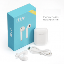 i11 TWS Wireless Touch Sensor Earbuds With Charging Case For iOS And Android