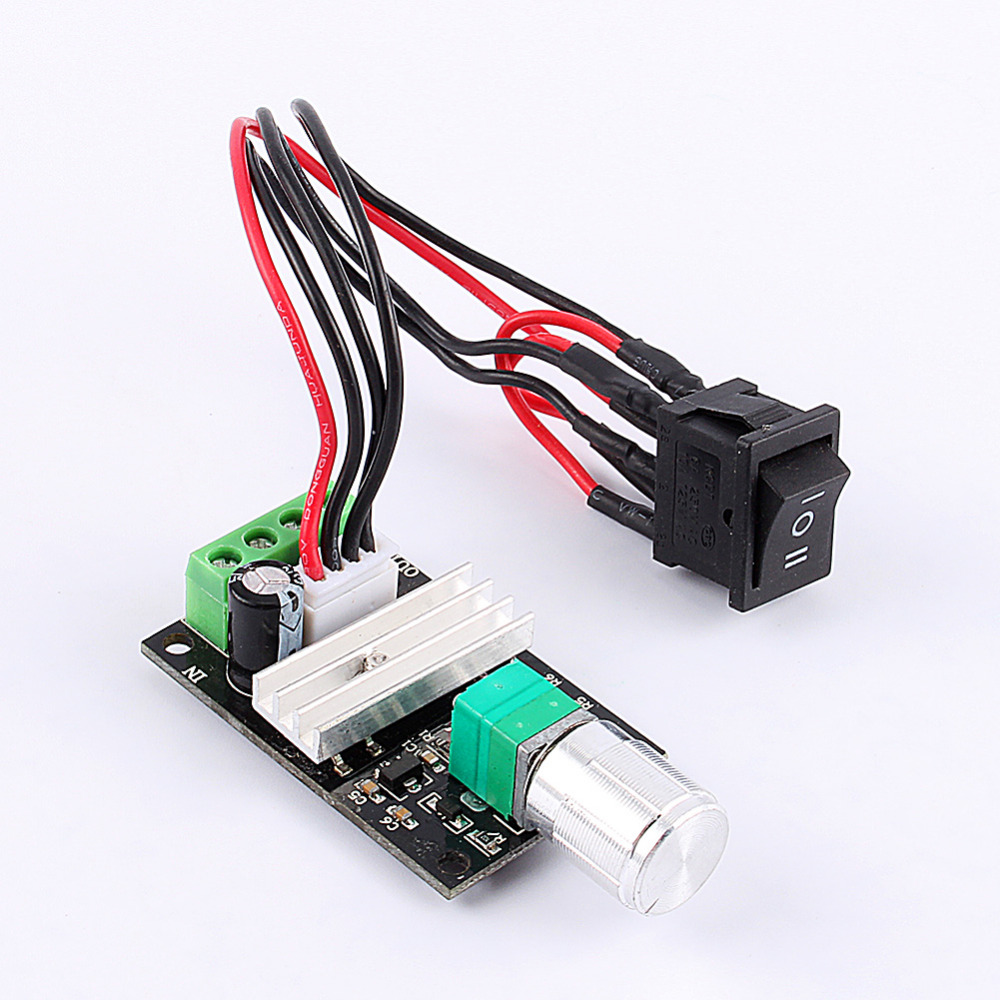 Dc 6v 12v 24v 3a reversible switch pwm motor speed for Motor speed control pwm